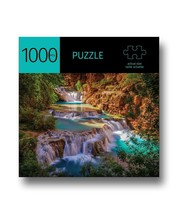 """Waterfalls Design Jigsaw Puzzle 1000pc 27""""x 20"""" When Complete Durable Fit Piece image 1"""