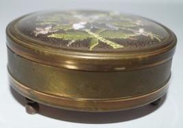 Vintage MARGARET ROSE England Brass JEWELRY TRINKET BOX - $18.53