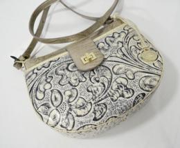 NWT Brahmin Vanessa Shoulder/Crossbody Bag in Crème Delano Embossed Leather - $219.00