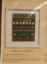 """Creative Circle #0550 Seeds of Kindness Unopened 8"""" x 10""""  Embroidery Kit - $6.89"""