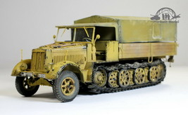 German SDKFZ 7 KM m11 halftrack Mittlere Zugkraftwagen 8t 1:35 Pro Built Model - $272.25