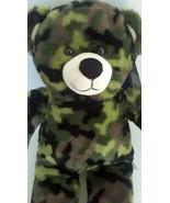 "Build A Bear Green Camouflage Camo Soft Teddy Plush Stuffed Animal Doll 16"" - $4.89"