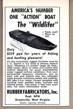 1964 Print Ad Wildlifer Fishing & Hunting Boat Rubber Fabricators Grants... - $8.55