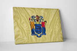 Vintage New Jersey State Flag Gallery Wrapped Canvas Wall Art - $43.51+