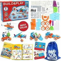 STEM Toys for Kids, 5-in-1 Building Project Set image 2