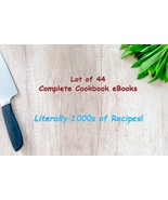 Ultimate Collection 44 Full Cookbooks eBooks THOUSANDS of delicious reci... - $1.49