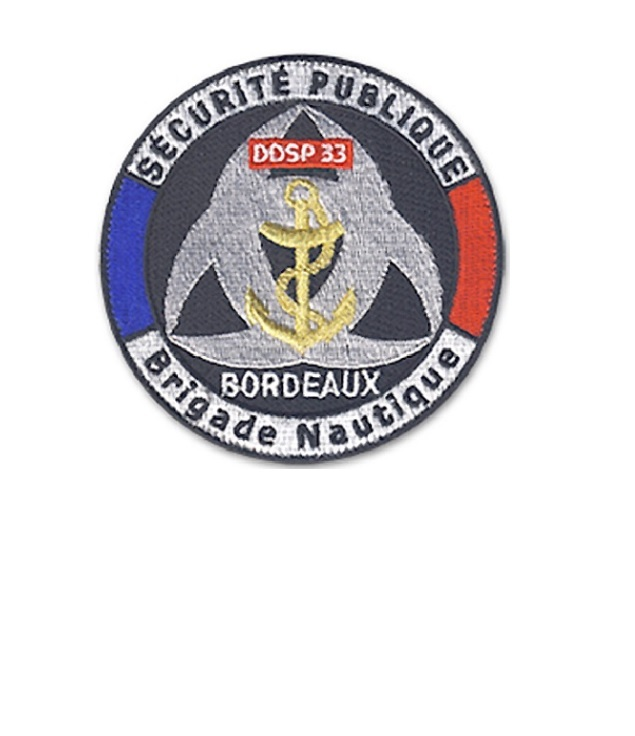 Bordeaux ddsp 33 brigade nautique french national police marine unit velcro 3.75 x 3.75 in 10.99