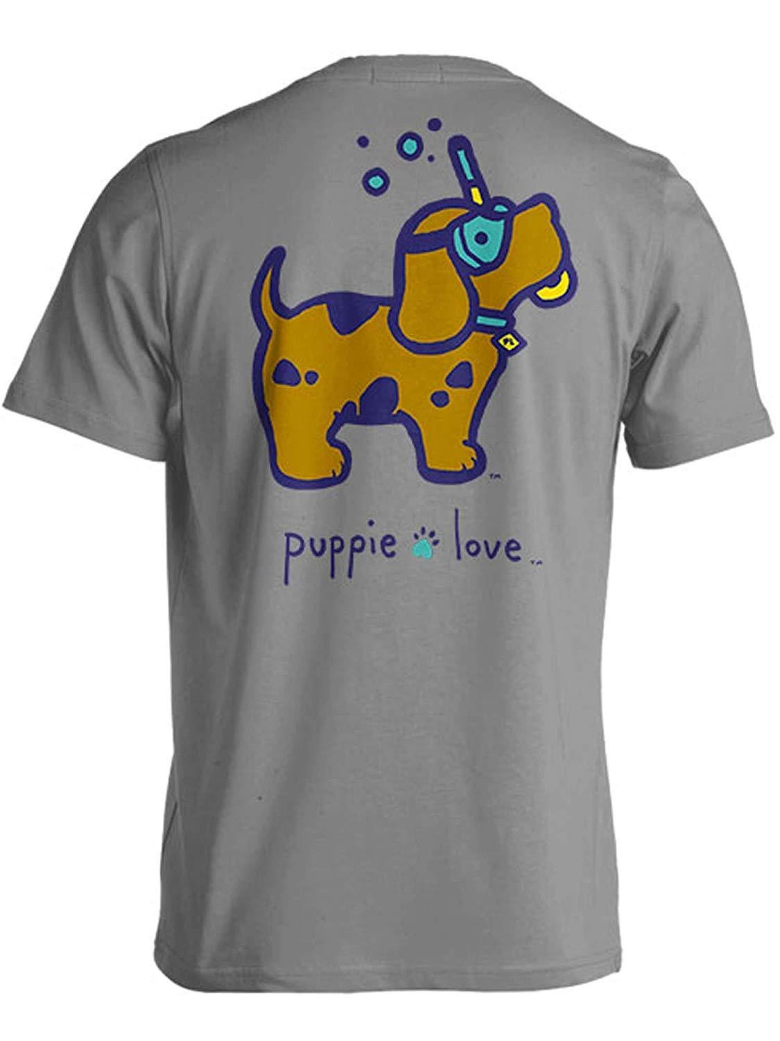 Puppie Love Rescue Dog Adult Unisex Short Sleeve Graphic T-Shirt, Scuba Doo Pup