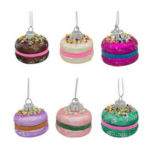 Darice Christmas Macaroon Ornament: 1.5 inches, 6 Assorted Colors One Pe... - $8.99