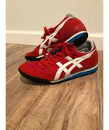 Red and White Asic Tiger Women's/Youth Athletic Shoes Sz 5 - $20.89
