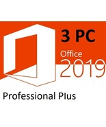 Microsoft Office Professional Plus 2019 for 3 PCs -download and keycode - $37.99