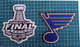 St. Louis Blues 2019 NHL Stanley Cup Final Champions logo Patch 2pcs Emb... - $26.99
