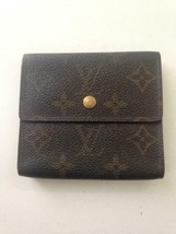 Authentic Louis Vuitton Brown Mono Unisex Compact Wallet 4in x 4in(SP0963) - $213.70