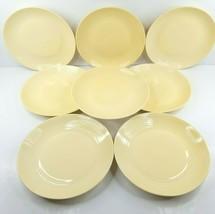 "8 Royal Doulton Gordon Ramsay Maze Buttermilk Yellow 11"" Dinner Plates Table Set - $148.17"