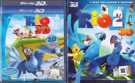 NEW Rio 1 & 2 Blu-Ray 3D + Blu-Ray Disc Free Shipping - $49.50