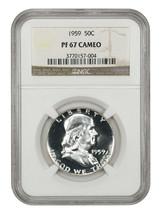 1959 50c NGC PR 67 CAM - Franklin Half Dollar - $756.60