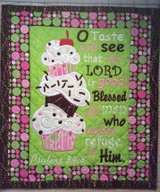 Christian Wall Hanging 12 x 14 Taste & See that the Lord is Good Psalm 34:8 - $45.00
