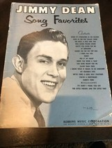 JIMMY DEAN SONG FAVORITES 1958 SONG BOOK FOR PIANO & GUITAR TEN LITTLE F... - $8.50