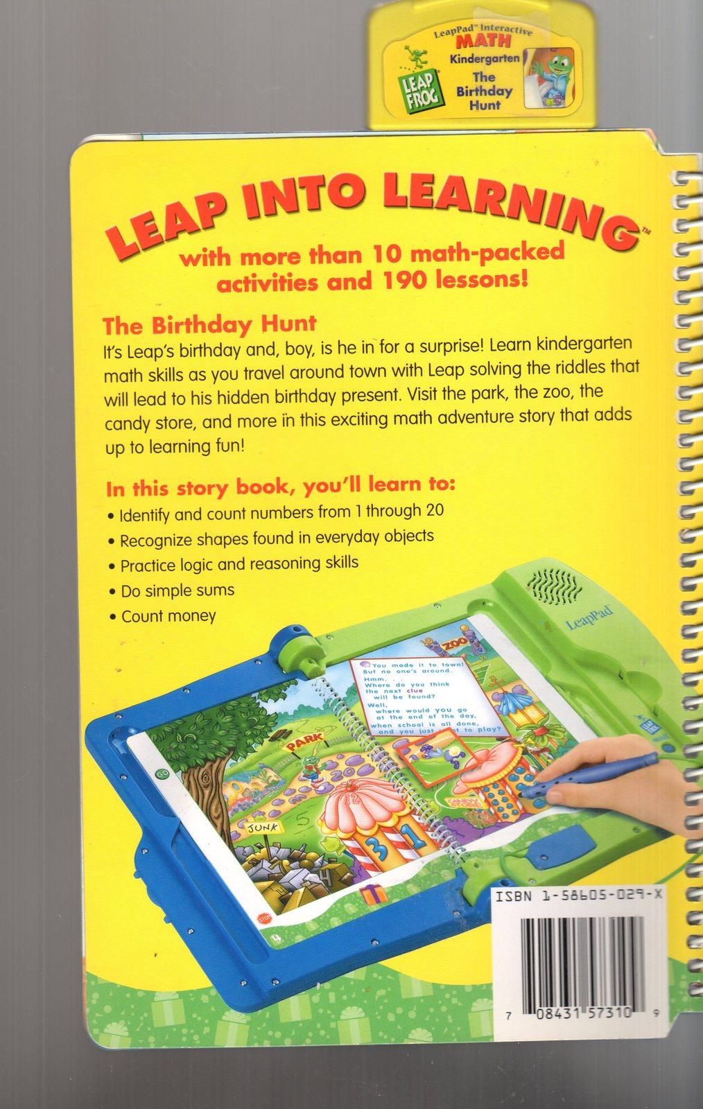 "LeapFrog LeapPad Math ""The Birthday Hunt"""