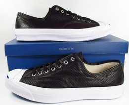 Converse Jack Purcell Signature Perforated Leather BLACK 151475C (11.5 M... - $87.50