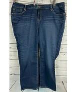 Torrid Size 20XS Dark Blue Straight Leg Mid Rise Jeans Pants - $33.33