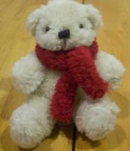 """Plushland TAN TEDDY BEAR W/ RED SCARF 5"""" Plush STUFFED ANIMAL Toy - $15.35"""