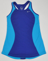 Nike Women's Dri Fit Racer Racerback Tank Top 645436 Running Blue Royal Mesh Xs - $14.94