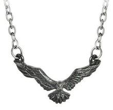 Ravenette Pendant Flying Raven Neclace Fine English Pewter Alchemy Gothi... - $14.95