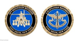 """FORT DRUM ARMY 10TH MOUNTAIN DIVISION 2-10 AVIATION 1.75"""" CHALLENGE COIN - $16.24"""