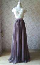 Maxi Full Tulle Skirt High Waisted Floor Length Tulle Skirt Wedding Tulle Skirt  image 5