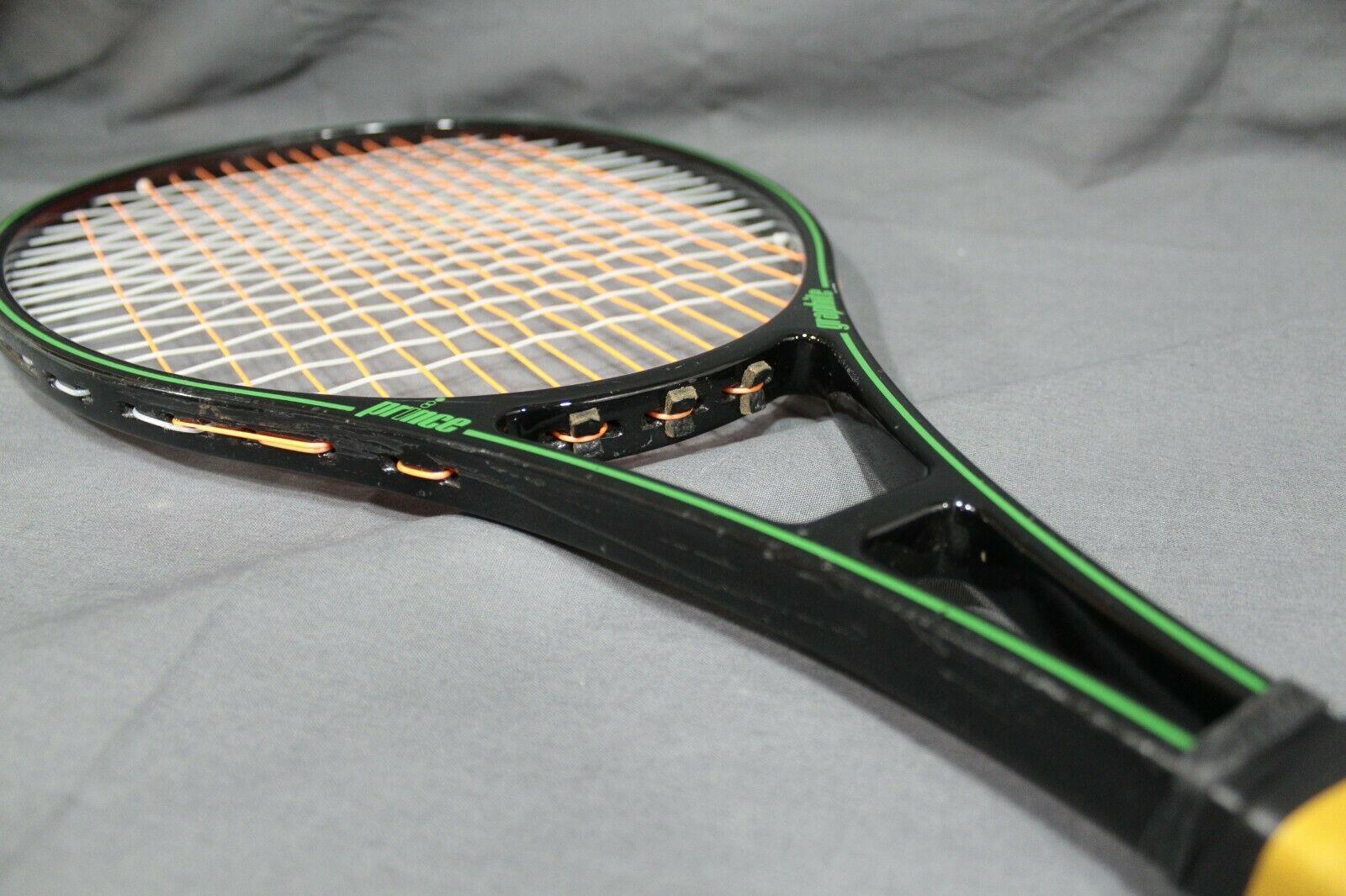 Prince Original Graphite 107   SINGLE STRIPE  Tennis Racquet 4 3/8  MADE IN USA