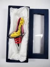 Vintage Wine Stopper, Yellow High Heel Shoe, Composite (Original Box) - €23,46 EUR