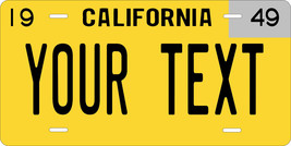 California 1949 License Plate Personalized Custom Car Auto Bike Motorcyc... - $10.99+