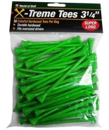 Golf Tees Extreme Step Tees Pack of 50 Durable Green Golf Tees - $7.97