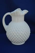 Fenton Hobnail Milk Glass Ice Lip Pitcher/Jug  #3664 MI 1964-1980 - $44.55