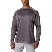 Columbia Men's Terminal Tackle Long Sleeve Shirt, City Grey/Dark Lime Lo... - $38.99