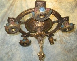 Ornate Art Deco Ceiling Light Lamp Ceiling Chandelier Hanging Fixture Vi... - $149.00