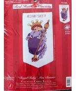 Candamar Designs Red Hat Society Royal Ruby Mini Banner Counted Cross St... - $24.99