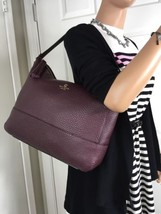 NEW KATE SPADE Southport Avenue CATHY Mulled Wine Pebbled Leather Hobo B... - €142,28 EUR