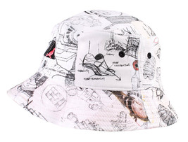 Staple New York NY Pigeon Sketch White 100% Cotton Bucket 1504C2922 Hat NWT