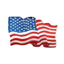 United States USA Waving 3D Flag Embroidered Patch Sew-on - $7.99