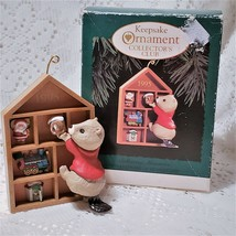 Beaver Christmas Ornament Keepsake Shelf Hallmark Vintage 90s 1995 - $9.84