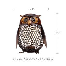 Escultura Owl Shaped Furnishing Articles Crafting Art Home Decoration Ac... - $18.69