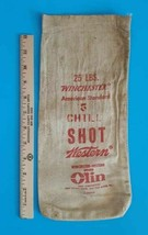 Vintage - WINCHESTER  5 Chill Shot 25 lbs  Empty Canvas Bag HARD TO FIND... - $24.00