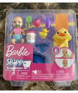 NIB BARBIE SKIPPER BABYSITTERS INC with BABY GIRL & FEEDING & BATH ACCES... - $17.82