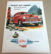 """1946 FORD 4-DR SEDAN Magazine Ad Advertisement R.C.M.P. """"Ford's Out Front"""" - $10.00"""