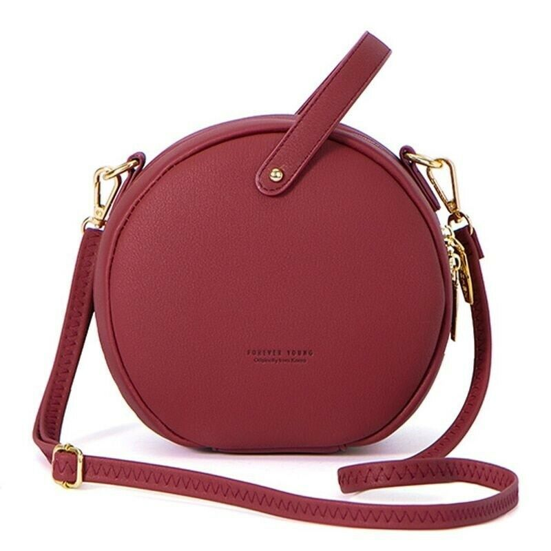 Primary image for Women Shoulder Bag Leather Crossbody Messenger Circular Design Fashion Handbag