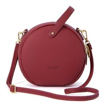 Women Shoulder Bag Leather Crossbody Messenger Circular Design Fashion H... - $34.63