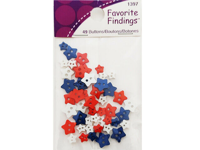 Blumenthal Lansing Co. Favorite Findings Star Shaped Buttons #1397