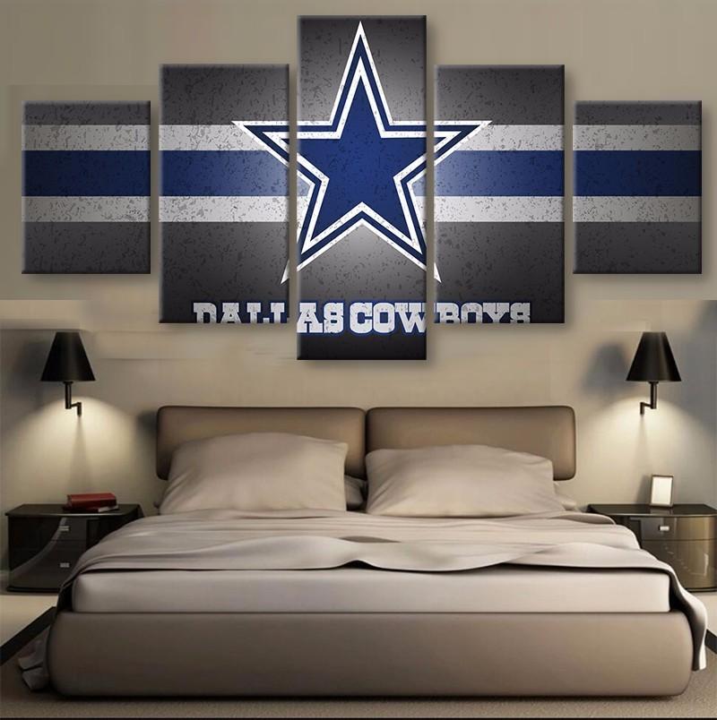 Dallas Cowboys Football Canvas Wall Art: 5 Piece Dallas Cowboys Sports Team Canvas Painting Frames